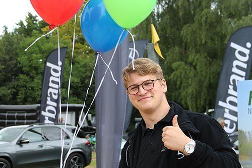 Unterstützung bei Marketingveranstaltungen in der Ausbildung bei Mercedes-Benz Herbrand